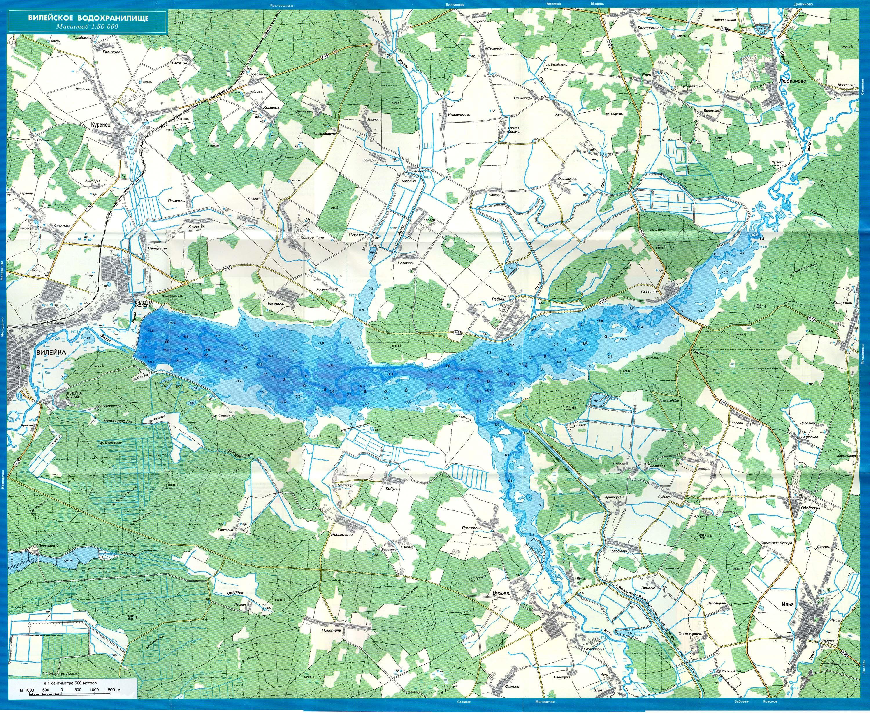 Вилейское Водохранилище Карта Глубин Скачать